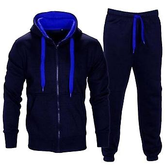 Tracksuit Men, Autumn Sportwear Set, Zipper Hooded Sweatshirt Jacket+pant