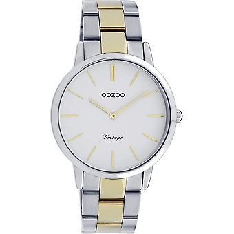 Oozoo - Women's Watch - C20032 - Silver Gold White