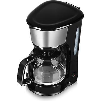 Gerui T13001 10 Cup Coffee Maker, Anti-Drip Feature, Stainless Steel, Gerui0 W, 1.25 Litre, Black