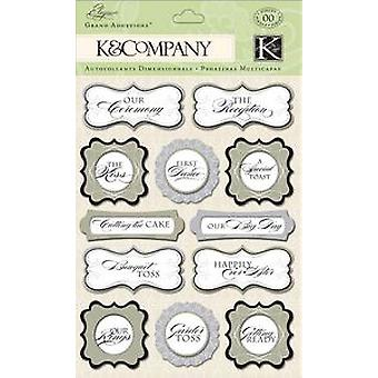 K & Co - Elegance Collection Words Grand Adhesion