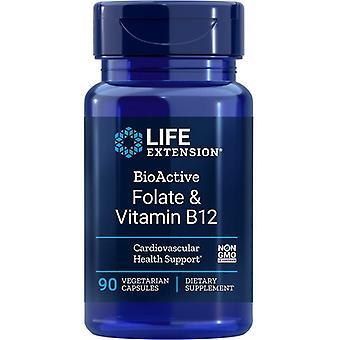 Estensione della vita Folato bioattivo e vitamina B12 Vegicaps 90