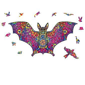 3D wooden puzzle toy children educational jigsaw gift bat shape pt32