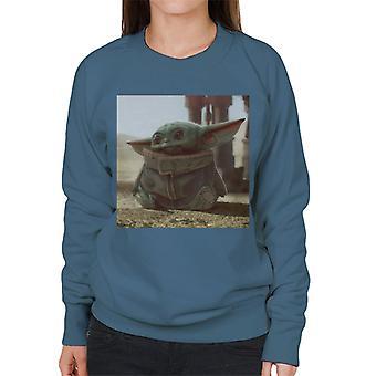 Star Wars The Mandalorian The Child Sitting Women's Sweatshirt