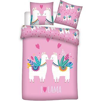 bed linen lama140 x 200 cm pink