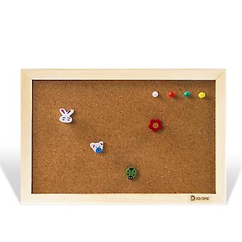 Natural Wood Frame 20*30cm Bulletin Cork Board