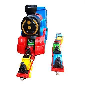 Pull Back Inertial Train Set, Simulare Model jucărie, Car Music Sound, Luminos