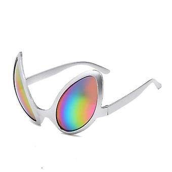 Aliens kostume briller regnbue linser