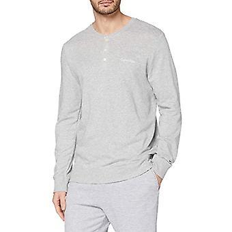 Calvin Klein L/S Henley Neck Thermal Clothing, Mlange Grey, L Man