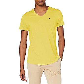 Tommy Jeans Tjm Vneck Jaspe Tee Pants, Valley Yellow, XS Men's