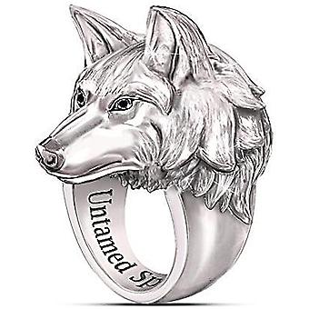 Men's Ring Norse Viking Nordic Wolf Head Rings For Men Wolf Ring Stands