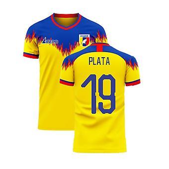Ecuador 2020-2021 Home Concept Football Kit (Libero) (PLATA 19)