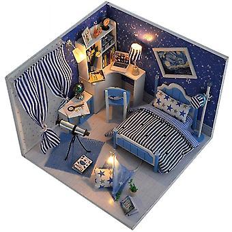 Diy nukkesarja talon kokoonpano lelu lapsille käsintehty lelu luova syntymäpäivä lahja