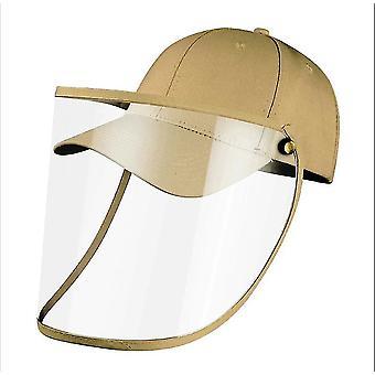 28Cm * 25 سم * 1 سم كاكي كامل الوجه قبعة البيسبول مع غطاء الوجه القابلة للإزالة x3739