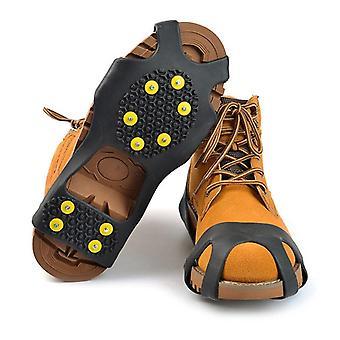 مكافحة الانزلاق الأحذية سبايكس كرامبتون المضادة للجليد على الثلج المشي لمسافات طويلة قبضة كرامبتون