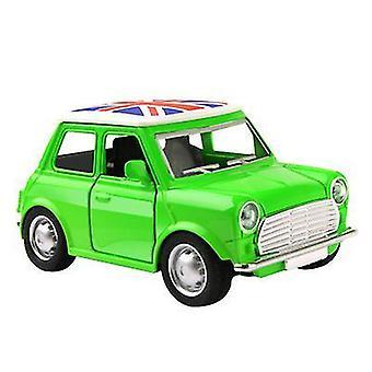 سيارة خضراء صغيرة للأطفال سبيكة، سيارة الكرتون نموذج لعبة سيارة az9104