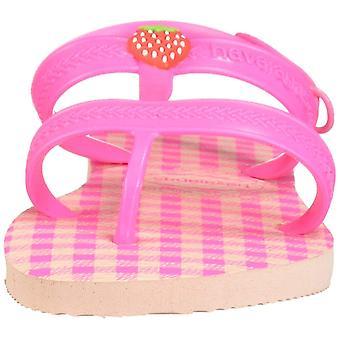 Havaianas Kid ' s Joy Spring Sandal, jossa backstrap (taapero/pieni lapsi), baletti ruusu/järkyttävä vaaleanpunainen, 23/24 br (9 M US taapero)