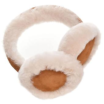 Kids' Luxurious Genuine Suede and Sheepskin Earmuffs