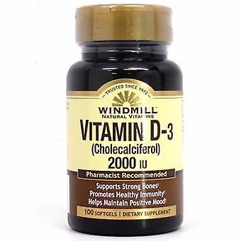 Windmill Health Vitamin D, 2000 IU 100 Softgels