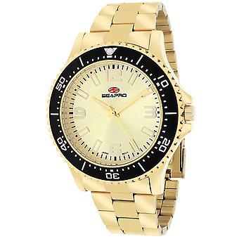 Seapro Men's Tideway Gold Dial Watch - SP5333