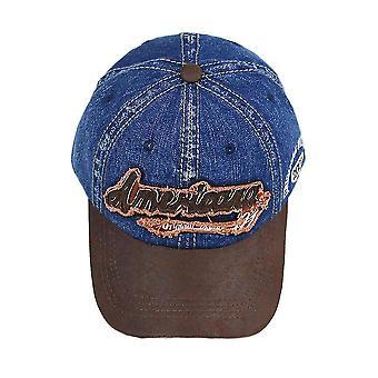 Καπέλο Men's Τζιν καπέλο μπέιζμπολ γράμμα κέντημα ρετρό Snapback Καπάκι