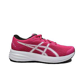 Asics Patriot 12 Pink Rave/White Mesh Womens Lace Up Running Trainers