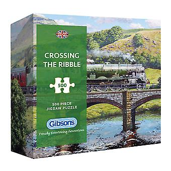 Gibsons Crossing the Ribble Jigsaw Puzzle in Gift Box  (500 Pieces)