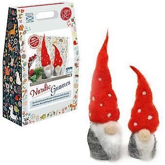 Christmas Nordic Gnomes eller Gonks Needle Felting Kit For Nybegynnere