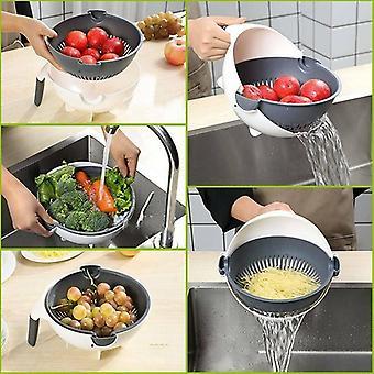 9in1 multifunctionele groentesnijder slicer + drain mand aardappel dunschiller rasp