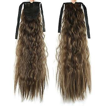(2-30) Thick Hair Wrap Around Wave Coada de cal Hair Piece Clip în extensii coada de ponei Peruca