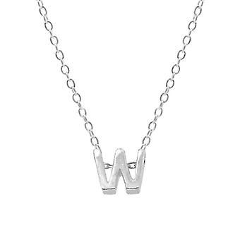 Sterling Silver Letter Round Choker Necklace, Minimalist Fine Jewelry(SILVER W)