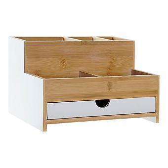 Multifunktionell arrangör DKD Home Decor Desk Bambu (23,5 x 18 x 15 cm)