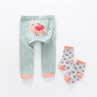 2pcs / set Cartoon Tights Baby Kids Calzini + pantaloni Carino Animale Toddler Natale