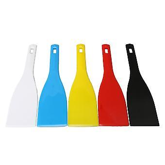 Palet messen 5 stuks 285x77mm plastic spatels inkt scoop zeefdruk schop