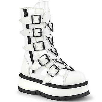 Demonia Chaussures Femme SLACKER-160 Wht Pat