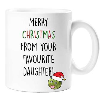 Vrolijk kerstfeest van uw favoriete dochter mok