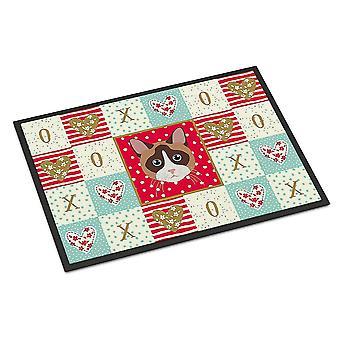 Door mats carolines treasures ck5167mat snowshoe cat love indoor or outdoor mat 18x27