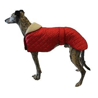 Dog apparel greyhound anorak nylon coat  66 cm  red
