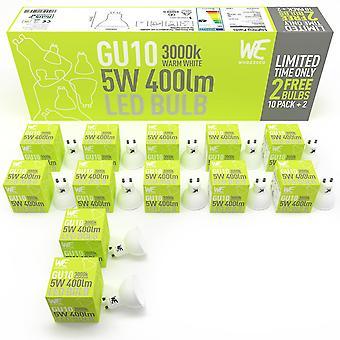 Flood spot lights gu10 led light bulbs 5w 12 pack warm white natural daylight spotlight