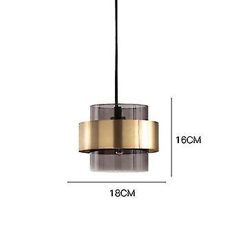 Vetro grigio lampada a sospensione sala da pranzo ristorante luce lampada a sospensione cucina decorazione casa nordico interno