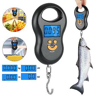 Cyfrowa waga ryb Pocztowy wiszący haczyk Waga Waga Lcd Mini Portable 110 Lb