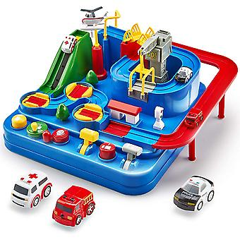 Racerbanor för pojkar bil äventyr leksaker fordon pussel bil spår lekset