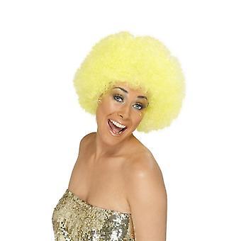 Krøllede Afro paryk 70 'er fest klovn leder af krøller