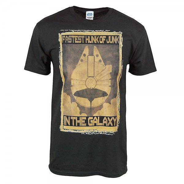 Star Wars Mens Star Wars pedaço de lixo T camisa preta