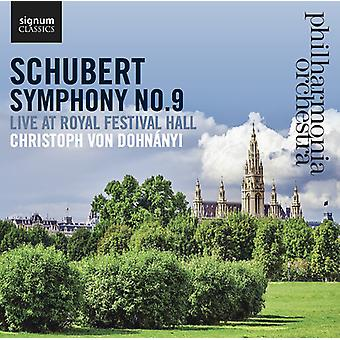 Schubert, F. / Philharmonia Orchestra - Symphony No. 9 Live at Royal Festival Hall [CD] USA import