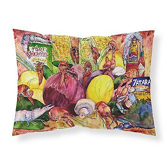 トウモロコシの生地の標準的な枕とスパイスが香るクローフィッシュします。