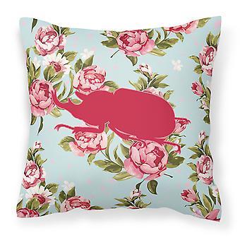 Chrząszcz Shabby Chic Blue Roses płótnie tkaniny dekoracyjne poduszki BB1064