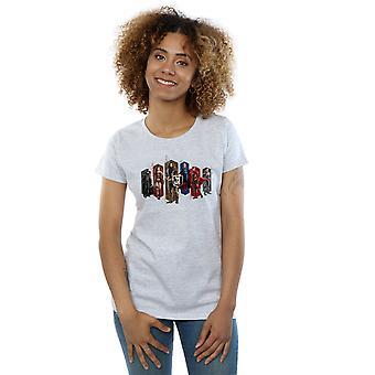 DC Comics Women's Justice League Movie Team Hexagons T-Shirt