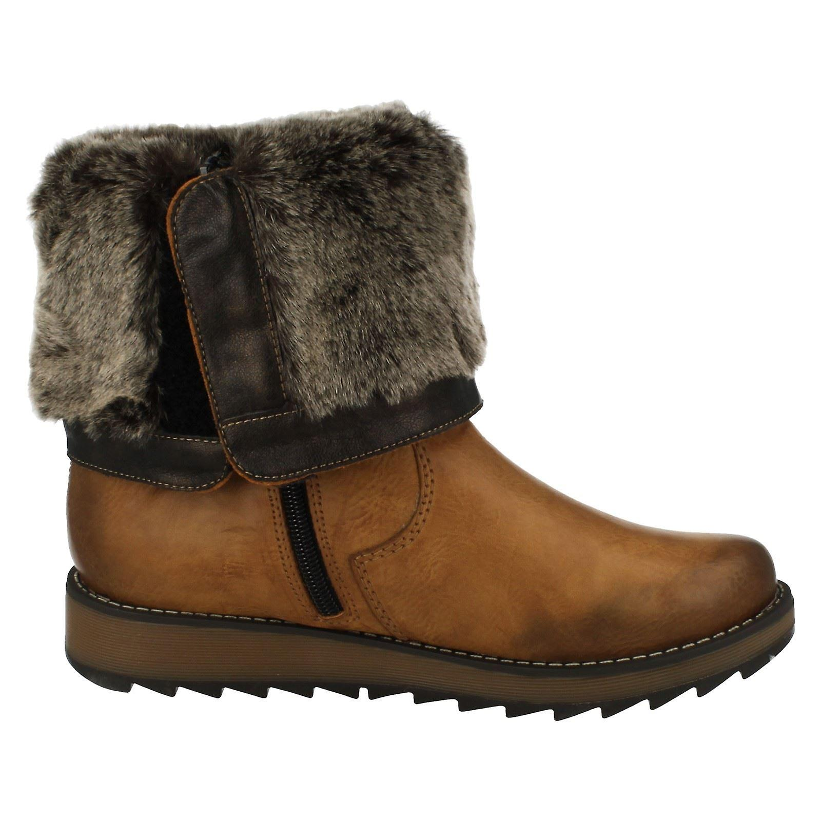 Ladies Remonte Alle Vær Warmlined Støvler D8874