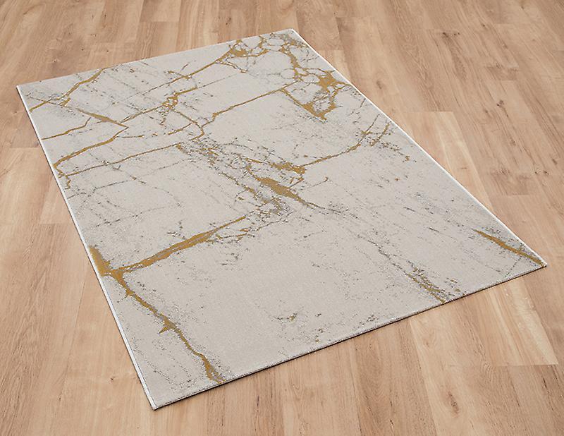 Toppen Marmor 37201 062 ljus grå ockra rektangel mattor moderna mattor NW-66