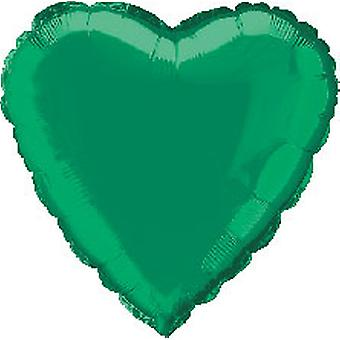 Folie ballon hart stevige Metallic groen